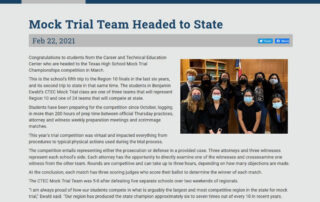 Mock Trial Team Headed to State (friscoisd.org)
