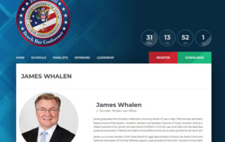 """James Whalen to join a distinguished panel of judges discussing """"Preserving Error at Sentencing"""""""